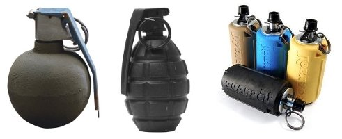 different types of airsoft grenades
